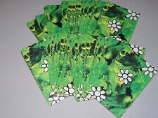 Vintage Green with White Flower Hoyle Trump Poker Playing Cards used deck