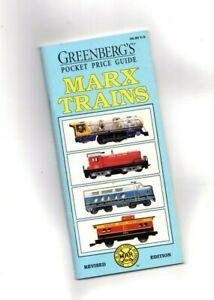 Greenberg's Pocket Guide to MARX TRAINS (1993): Joy, HO, Accessories Scarce