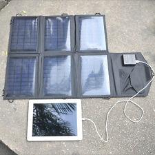 21W 18V Foldable Portable Solar Panel Battery Charger 2 Port USB Power Bank Pack