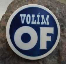 Civil Forum I am Voting for OF Czechoslovak Democracy of Vaclav Havel Pin Badge