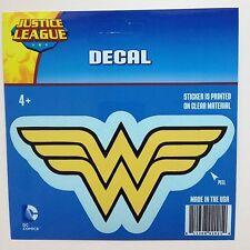 "DC Comics Justice League Wonder Woman logo Car Window Sticker Decal 6"" B/Y"