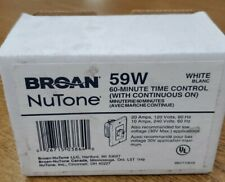 Broan P59W White 60 Minute Fan Control Timer Switch