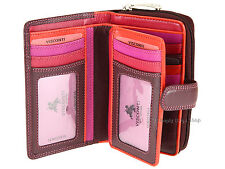 Visconti Ladies RFID Blocking Multi Compartment Leather Purse Wallet - Rio R13