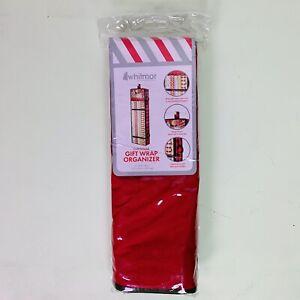 "Christmas Wrapping Paper Organizer Gift Wrap Holder Whitmor 43x14.5x5"" Zipper"