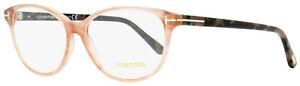 Tom Ford Oval Eyeglasses TF5421 074 Rose/Havana 53mm FT5421
