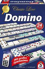 Schmidt Spiele Classic Line Domino mit großen Spielsteinen Familen Partyspiel