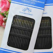 12St Hand Stitches Needles Selbst Threading Gewinde Verschiedene Pin Craft Diy