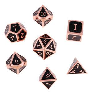 Set of 7pcs Zinc Alloy Polyhedral Dice D4-D20 for   Games
