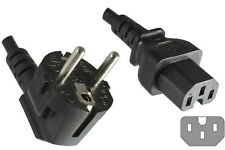 Power Cable SCHUKO HOT Mains Male Plug to IEC C15 Female Socket 2.5m 2.5 metres