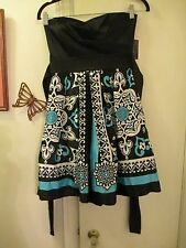 Teeze Me - Black w/multi-color Strapless Dress -  Junior Size 3  - New w/Tags
