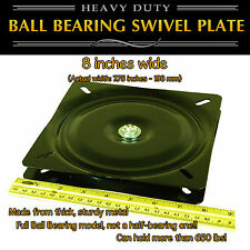 1pc - 8 inch (198mm) - Full Ball Bearing Flat Swivel Plate Turntable
