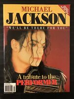 RARE MICHAEL JACKSON ITALY IMPORT BOOK - A TRIBUTE TO THE PERFORMER 1994 MINT