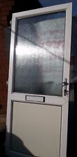 White Pvc Front Door and frame with lock, keys and letter box