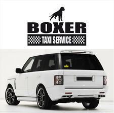 AYC Auto Aufkleber BOXER Taxi Service Hunde Hundeaufkleber fun Siviwonder