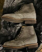 Mark McNairy New Amsterdam Wingtip Suede Ankle Boots Size 8US