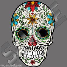 "Sugar Skull Day of the Dead Vinyl Decal Car Truck Window Bumper Sticker 5"" SSC1"