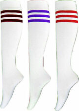 Unbranded Cotton Striped Knee-High Socks for Women