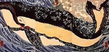 Samurai Warrior Musashi on the Back of a Whale Japan 7x3 Inch Print