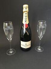 Moët Chandon Imperial bouteille de champagne 0,75l 12% vol + 2 Moët champagne verres