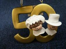 50th Golden Wedding Anniversary Christmas Ornament NEW (o2408)