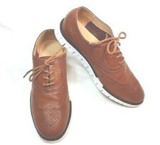 Cole Haan Zerogrand  Boys USA Size 5 EUR 37 Wingtip Oxford Brown Leather Shoes