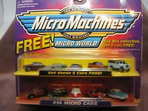 Micro Machines #14 MICRO CARS Set Galoob Vintage 1998 VHTF MISB