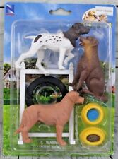 New Ray Dog Play Set German Shorthair Pointer, Yellow Lab, Choclate Lab
