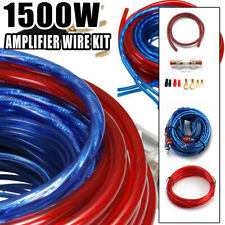 8 Gauge Amplfier Power Kit for Amp Install Wiring Complete Ga Cables 1500W