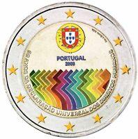 Portugal 2 Euro 2008 Jahrestag der Menschenrechte Gedenkmünze in Farbe