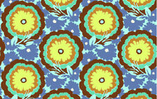 Amy Butler Soul Blossoms Buttercups Fabric in Cyan