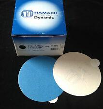 HAMACH -Dynamic(Stick-klebend)- Schleifscheibe ∅ 150mm P100 (100 Stk.) ohne Loch