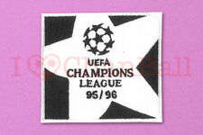 UEFA Champions League 1995-1996 White Sleeve Embroidery Soccer Patch / Badge