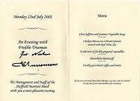 FRED TRUEMAN CRICKET LEGEND in person signed Menu Card