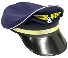ADULT AIRLINE PILOT AVIATION CAPTAIN HAT COSTUME DRESS GC182