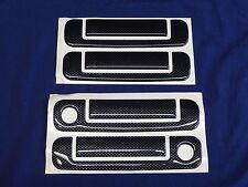 AUDI A4 B5 BLACK CARBON LOOK DOOR HANDLE COVERS also AUDI 80, 90, A6, 100 - 8pce