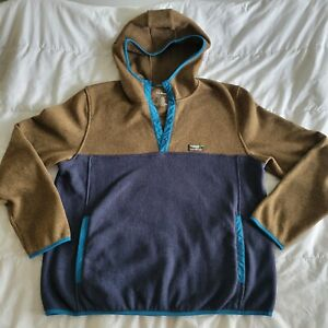 L.L.Bean Men's 1/4 Snap Pullover Hoodie Size XL Regular
