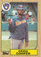 Cecil Cooper 1987 Topps #10 Milwaukee Brewers card