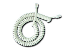 Lot of 5 White Avaya Telephone Phone Handset Coil Curly Cords 9 FT NEW