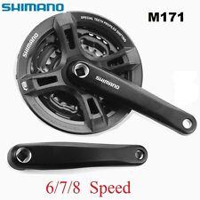Shimano Tourney Black M171 6/7/8-Speed 170mm 48-38-28t Square Bicycle Crankset