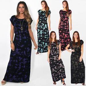 Womens Ladies Loose Maxi Dress Long Oversized Summer Jersey Boho Casual Party