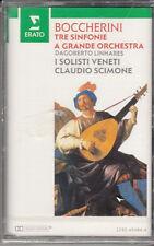 K 7 AUDIO (TAPE)  BOCCHERINI TRE SINFONIE / CLAUDIO SCIMONE (NEUVE)