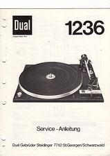 Dual Service Manual für 1236