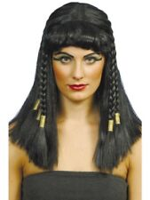 Black Braided Cleopatra Wig Adult Womens Smiffys Fancy Dress Costume