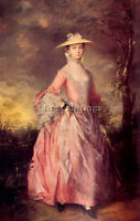 THOMAS GAINSBOROUGH MARY COUNTESS HOWE ARTIST PAINTING OIL CANVAS REPRO ART DECO