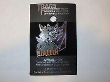 NEW Universal Studios Hasbro Transformers The Fallen on Blue Logo Trading Pin