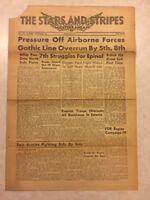 Stars and Stripes Mediterranean Newspaper Sep 25 1944 FDR Begins Campaign IV