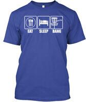 Eat Sleep Bang, Funny Disc Golf Hanes Tagless Tee T-Shirt