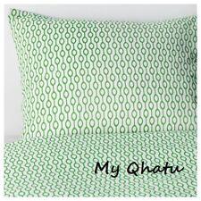 IKEA Rodved Duvet Cover & 2 Pillowcase Set Full/ Queen Green White Bead  NEW