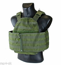 US Military Gear Molle Vest Modular Plate Carrier (Olive Drab) [CC4]
