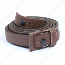 WW2 German StG44 Leather Sling - Brown Army Repro Gun Strap New Military
